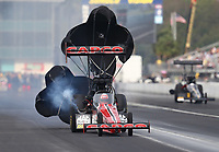 Sep 27, 2020; Gainesville, Florida, USA; NHRA top fuel driver Billy Torrence during the Gatornationals at Gainesville Raceway. Mandatory Credit: Mark J. Rebilas-USA TODAY Sports