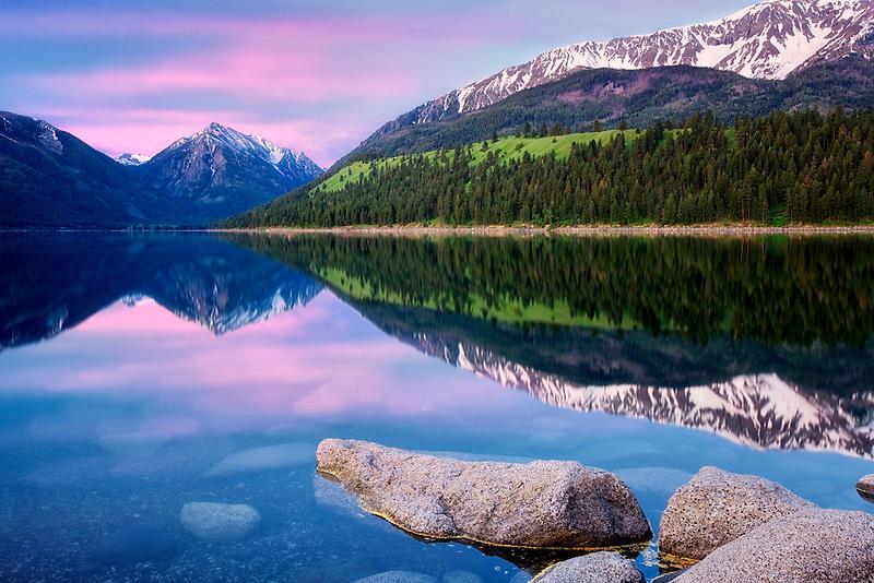 Wallowa Lake sunrise. Oregon