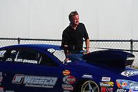 Jul, 9, 2011; Joliet, IL, USA: NHRA pro stock driver Kurt Johnson during qualifying for the Route 66 Nationals at Route 66 Raceway. Mandatory Credit: Mark J. Rebilas-