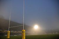 Photo: Tony Oudot/Richard Lane Photography. London Wasps v Exeter Chiefs. Aviva Premiership. 05/12/2010. .A foggy night at Adams Park.