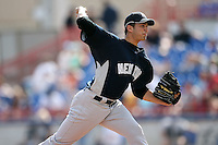 February 25, 2009:  Pitcher Christian Garcia (70) of the New York Yankees during a Spring Training game at Dunedin Stadium in Dunedin, FL.  The New York Yankees defeated the Toronto Blue Jays 6-1.   Photo by:  Mike Janes/Four Seam Images