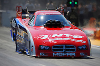 Jul. 1, 2012; Joliet, IL, USA: NHRA funny car driver Johnny Gray during the Route 66 Nationals at Route 66 Raceway. Mandatory Credit: Mark J. Rebilas-
