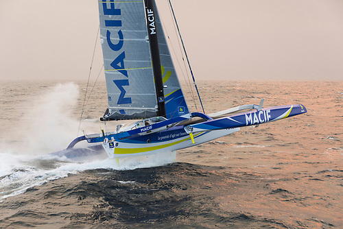 "The current record for the fastest solo non-stop circumnavigation is held by Frenchman François Gabart with a time of 42 days 16h 40' 3"" set in 2017 aboard the 30m trimaran Ultim MACIF."