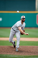 Wisconsin Timber Rattlers relief pitcher Luke Barker (37) delivers a pitch during a game against the Fort Wayne TinCaps on May 10, 2017 at Parkview Field in Fort Wayne, Indiana.  Fort Wayne defeated Wisconsin 3-2.  (Mike Janes/Four Seam Images)