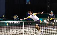 Rotterdam, The Netherlands, 3 march  2021, ABNAMRO World Tennis Tournament, Ahoy, First round doubles: Kontinen (FIN) / Edouard Roger Vasslin (FRA).<br /> Photo: www.tennisimages.com/
