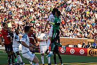 Minneapolis, MN - Saturday, July 15, 2017: MLS team Minnesota United took on Liga MX's Atlas FC in an international friendly at TCF Bank Stadium. Final score United 1, Atlas 1