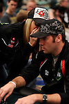 Team USA Captain Vanessa Rousso talks strategy with teammate Andrew Schultz.