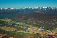 The Cairngorms and the River Dee from Morrone, Aberdeenshire