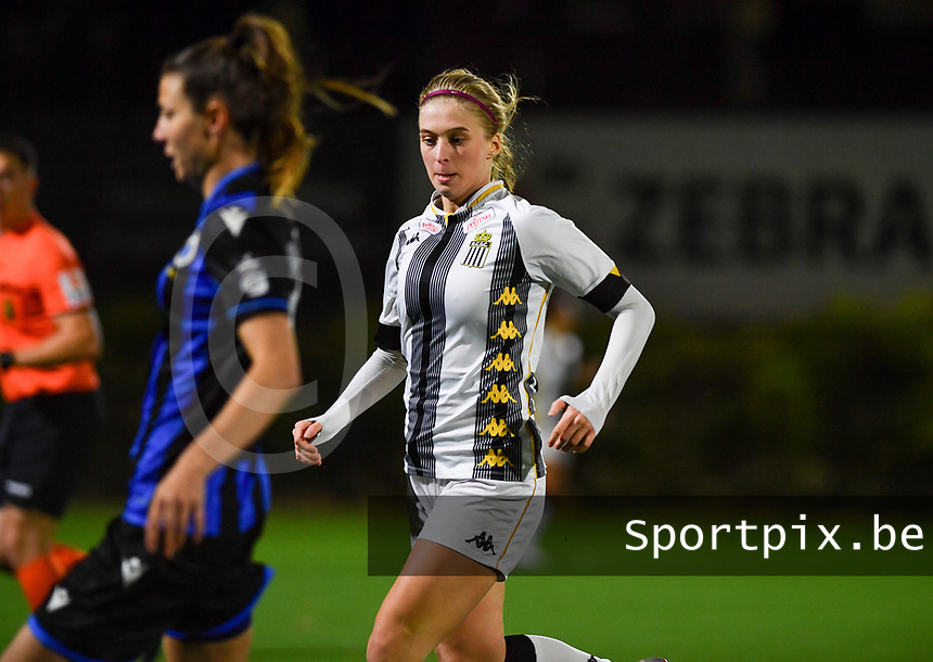 midfielder Ludmila Matavkova of Sporting Charleroi pictured during a female soccer game between Sporting Charleroi and Club Brugge YLA on the fourth matchday of the 2020 - 2021 season of Belgian Scooore Womens Super League , friday 9 nd of October 2020  in Marcinelle , Belgium . PHOTO SPORTPIX.BE   SPP   DAVID CATRY
