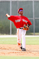 July 14, 2009:  Roberto Ramos of the GCL Red Sox during a game at Boston Red Sox Training Complex in Fort Myers, FL.  The GCL Red Sox are the Gulf Coast Rookie League affiliate of the Boston Red Sox.  Photo By Mike Janes/Four Seam Images