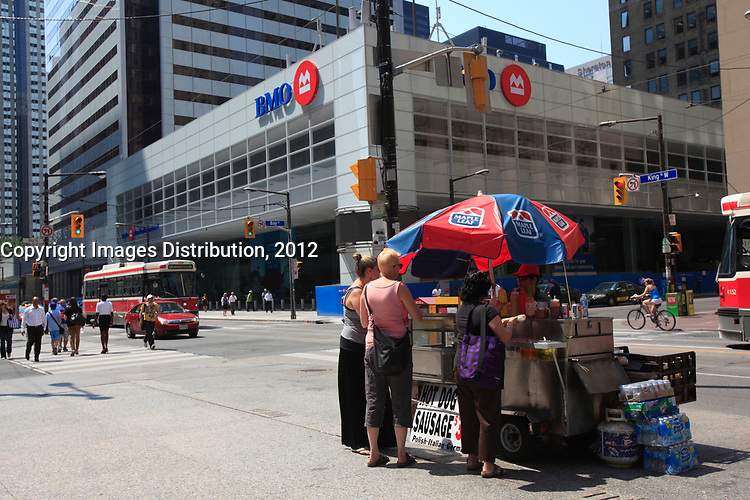 Toronto (ON) CANADA - July 2012 - King and Bay Street Financial District