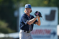Asheville Tourists starting pitcher Sam Howard (32) looks to his catcher for the sign against the Kannapolis Intimidators at Intimidators Stadium on June 28, 2015 in Kannapolis, North Carolina.  The Tourists defeated the Intimidators 6-4.  (Brian Westerholt/Four Seam Images)