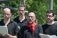 Inernational Brigades Commemoration. At the International Brigades memorial Jubilee gardens. Lambeth London. 6-7-13