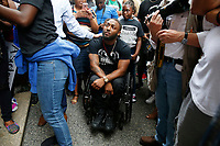 Leon Ford attends a rally for Antwon Rose, the 17-year old who was shot and killed by East Pittsburgh police. (Photo by Jared Wickerham/For Pittsburgh Current)