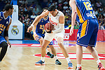 Real Madrid's Gustavo Ayon and UCAM Murcia's Facundo Campazzo during the first match of the playoff at Barclaycard Center in Madrid. May 27, 2016. (ALTERPHOTOS/BorjaB.Hojas)