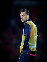 Mesut Özil of Arsenal warms up during the UEFA Europa League match group between Arsenal and Vorskla Poltava at the Emirates Stadium, London, England on 20 September 2018. Photo by Andrew Aleks / PRiME Media Images.