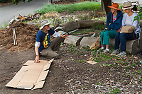 Sheet mulch demonstration, Crescent Farm, sustainable demonstation garden; Los Angeles County Arboretum and Botanic Garden