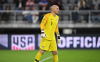 WASHINGTON, D.C. - OCTOBER 11: Brad Guzan #1 of the United States looks downfield during their Nations League game versus Cuba at Audi Field, on October 11, 2019 in Washington D.C.