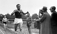 BNPS.co.uk (01202) 558833. <br /> Pic: Pen&Sword/BNPS<br /> <br /> Pictured: Janesz Kusocinski won the 10,000m at the 1932 Olympic Games, he went on to become part of the polish resistance before being murdered by the Gestapo. <br /> <br /> The tragic stories of almost 500 Olympians who were killed during World War Two have been revealed in a new book.<br /> <br /> While this year's Tokyo Olympics competitors are producing extraordinary feats in the sporting arena, these fallen Olympians displayed heroism of a different kind.<br /> <br /> Dozens died carrying out acts of gallantry in major battles including D-Day, while almost 60 Jewish participants perished in concentration camps during the Holocaust.