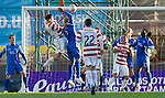 Hamilton Accies v St Johnstone..23.10.10  .Michael Duberry handballs to give away a penalty.Picture by Graeme Hart..Copyright Perthshire Picture Agency.Tel: 01738 623350  Mobile: 07990 594431