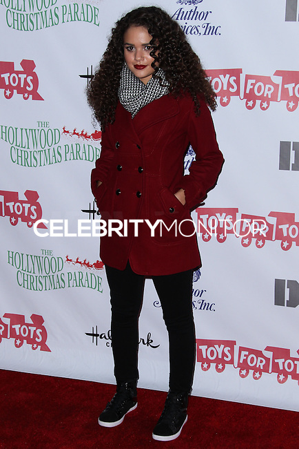 HOLLYWOOD, CA - DECEMBER 01: Madison Pettis arriving at the 82nd Annual Hollywood Christmas Parade held at Hollywood Boulevard on December 1, 2013 in Hollywood, California. (Photo by Xavier Collin/Celebrity Monitor)