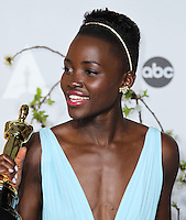 HOLLYWOOD, LOS ANGELES, CA, USA - MARCH 02: Lupita Nyong'o at the 86th Annual Academy Awards - Press Room held at Dolby Theatre on March 2, 2014 in Hollywood, Los Angeles, California, United States. (Photo by Xavier Collin/Celebrity Monitor)