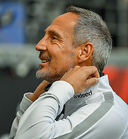 Trainer Adi Hütter (Eintracht Frankfurt) im Innenraum der Commerzbank Arena - 16.05.2020, Fussball 1.Bundesliga, 26.Spieltag, Eintracht Frankfurt  - Borussia Moenchengladbach emspor, v.l. Stadionansicht / Ansicht / Arena / Stadion / Innenraum / Innen / Innenansicht / Videowall<br /> <br /> <br /> Foto: Jan Huebner/Pool VIA Marc Schüler/Sportpics.de<br /> <br /> Nur für journalistische Zwecke. Only for editorial use. (DFL/DFB REGULATIONS PROHIBIT ANY USE OF PHOTOGRAPHS as IMAGE SEQUENCES and/or QUASI-VIDEO)