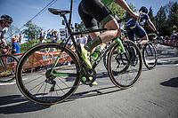Riejanne Markus (NED/WaowDeals Pro Cycling Team) up the Mur de Huy. <br /> <br /> 21st La Flèche Wallonne Femmes <br /> 1 day race: Huy - Huy (118,5KM)