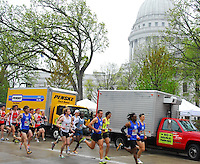Runners start the 8K race at the Crazylegs Classic on Saturday, 4/24/10, in Madison, Wisconsin