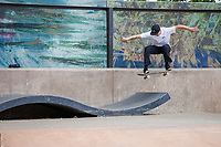 Skateboarding, Seattle Center, WA, USA.