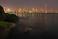 Looking back at Dubai from the jetty.