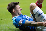 St Johnstone v Aberdeen…15.09.18…   McDiarmid Park     SPFL<br />Matty Kennedy takes a sore one<br />Picture by Graeme Hart. <br />Copyright Perthshire Picture Agency<br />Tel: 01738 623350  Mobile: 07990 594431