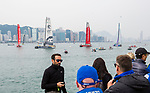 Race Re-start for the Volvo Ocean Race 2017-18 at Royal Hong Kong Yacht Club on 07 February 2018, in Hong Kong, Hong Kong. Photo by Yuk Man Wong / Power Sport Images