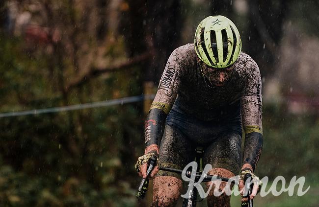 rainsoaked Quinten Hermans (BEL/Tormans)<br /> <br /> Men's Race at the X2O Herentals Cross 2020 (BEL)<br /> <br /> ©kramon
