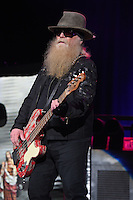 WEST PALM BEACH, FL - MAY 8: Dusty Hill of ZZ Top performs at The Coral Sky Amphitheater on May 8, 2015 in West Palm Beach Florida. Credit: mpi04/MediaPunch