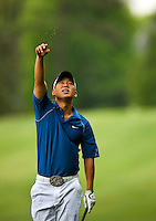 Golfer Anthony Kim plays the course during the Quail Hollow Championship golf tournament 2009. The event, formerly called the Wachovia Championship, is a top event on the PGA Tour, attracting such popular golf icons as Tiger Woods, Vijay Singh and Bubba Watson. Photo from the first round in the Quail Hollow Championship golf tournament at the Quail Hollow Club in Charlotte, N.C., Thursday, April 30, 2009.