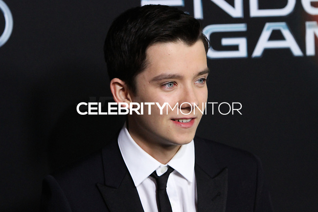 """HOLLYWOOD, CA - OCTOBER 28: Los Angeles Premiere Of Summit Entertainment's """"Ender's Game"""" held at TCL Chinese Theatre on October 28, 2013 in Hollywood, Los Angeles, California."""