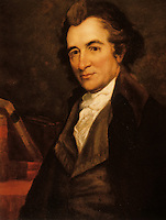 Thomas Paine, 1787-1809. Portrait by Bass Otis, 1784-1861.  The only replica of George Romney's lost portrait.  Huntington Library.