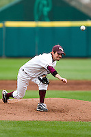 Clay Murphy (8) of the Missouri State Bears delivers a pitch  during a game against the Oral Roberts Golden Eagles on March 27, 2011 at Hammons Field in Springfield, Missouri.  Photo By David Welker/Four Seam Images