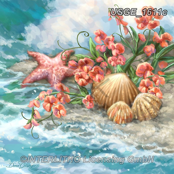 Dona Gelsinger, STILL LIFE STILLEBEN, NATURALEZA MORTA, paintings+++++,USGE1611C,#i#, EVERYDAY,maritime,sea starts,ocean,beach