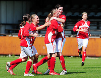 RSC Anderlecht Dames - Standard Femina : Standard kampioen 2010 - 2011 : vreugde bij standard na de 1-0 van Melanie Mignon.foto DAVID CATRY / Vrouwenteam / Loft6