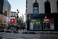 NEW YORK, NEW YORK - FEBRUARY 25: General view of GameStop at 6th Avenue on February 25, 2021 in New York. GameStop Corp. doubled its shares and and jumped another 19% today and the betting are that GameStop shares would spike to $800 on Friday. (Photo by John Smith/VIEWpress via Getty Images)