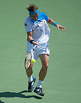 David Ferrer (ESP) loses to Andy Murray (GBR), 6-2, 4-6, 6-7(1)at the Sony Open being played at Tennis Center at Crandon Park in Miami, Key Biscayne, Florida on March 31, 2013