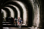 The peloton enter a tunnel during Stage 5 of Tour de France 2020, running 183km from Gap to Privas, France. 2nd September 2020.<br /> Picture: ASO/Pauline Ballet   Cyclefile<br /> All photos usage must carry mandatory copyright credit (© Cyclefile   ASO/Pauline Ballet)