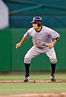12 June 2006: Jamey Carroll, infielder for the Colorado Rockies, takes a lead off second during a game against the Washington Nationals at RFK Stadium, in Washington, DC. The Rockies defeated the Nationals 4-3 in the first game of the four game series...Mandatory Photo Credit: Ed Wolfstein Photo..