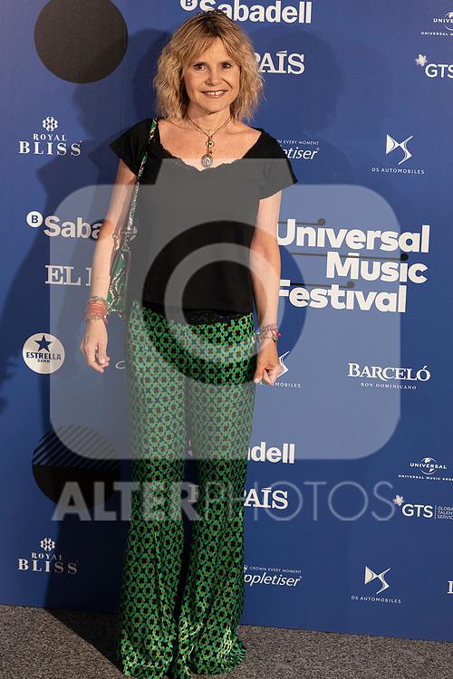 Aristocrat Eugenia Martinez de Irujo attends the photocall of Antonio Orozco´s concert during Universal Music Festival. July 27, 2019. (ALTERPHOTOS/Johana Hernández)