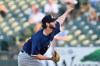 Reno Aces pitcher Keith Hessler (37) fires a pitch during pacific coast league baseball game, Friday August 14, 2014 in Round Rock, Tex. Reno defeated Round Rock 6-1 to go two up in best of three series. (Mo Khursheed/TFV Media via AP Images)