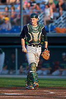 Vermont Lake Monsters catcher Sean Murphy (33) during a game against the Auburn Doubledays on July 12, 2016 at Falcon Park in Auburn, New York.  Auburn defeated Vermont 3-1.  (Mike Janes/Four Seam Images)