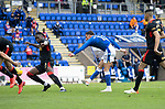 St Johnstone v Rangers…11.09.21  McDiarmid Park    SPFL<br />Michael O'Halloran puts saints 1-0 up<br />Picture by Graeme Hart.<br />Copyright Perthshire Picture Agency<br />Tel: 01738 623350  Mobile: 07990 594431