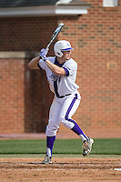 Carson Jackson (10) of the High Point Panthers at bat against the NJIT Highlanders during game one of a double-header at Williard Stadium on February 18, 2017 in High Point, North Carolina.  The Panthers defeated the Highlanders 11-0.  (Brian Westerholt/Four Seam Images)